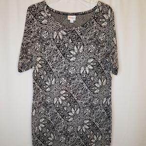 LuLaRoe Julia Dress Jacquard XL